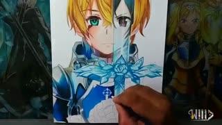 نقاشی از یوجیو از انیمه sword art online alicization