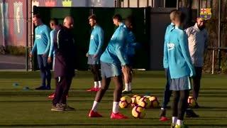 بازگشت ساموئل اومتیتی به تمرینات بارسلونا