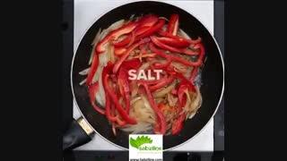 بشقاب سیب زمینی و سبزیجات - سبزی لاین