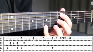 Canon in D | Fingerstyle TABS Guitar Lesson  اموزش گیتار