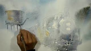 نقاشی آبرنگ لوکو متیو