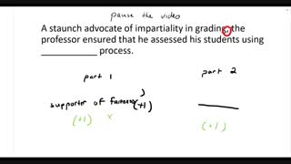 GRE Text Completion Strategy - Technique 1: Treat the sentence like a 'math' problem