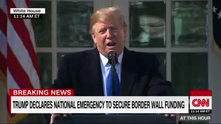 فیلم:ترامپ وضعیت فوق العاده ملی اعلام کرد