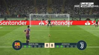 پنالتی فینال بازی بارسلونا و یونتوس در لیگ قهرمانان اروپا/ PES 2019