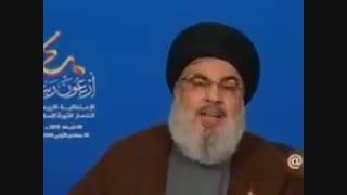 گفته های جناب آقای آیت الله نصرالله درمورد سیاه نمایی های اونور