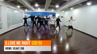 EXO MOST VIEWED DANCE PRACTICE | JANUARY 2019