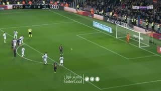 گل اول بارسلونا به وایادولید توسط مسی (پنالتی)