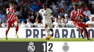 خلاصۀ بازی رئال مادرید 1_2 خیرونا (هفتۀ بیستوچهارم لالیگا اسپانیا)