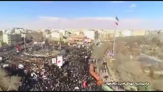 تصاویر هوایی حضور پرشکوه و گسترده مردم اصفهان در مراسم تشییع #شهدای_امنیت