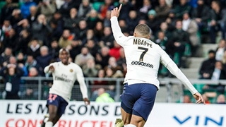 خلاصه دیدار سنآتین 0_1 پاریسنژرمن (هفته 25 لیگ 1 فرانسه)