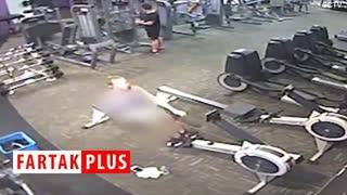 لحظه حمله قلبی ورزشکار در باشگاه بدنسازی!