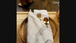 تا کردن دستمال بشقاب - قسمت 2
