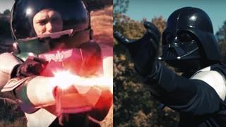 مبارزه Darth Vader جنگ ستارگان با Buzz Lightyear داستان اسباب بازی ها
