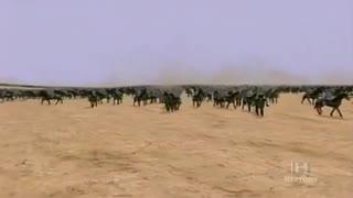 ویدیوی بازسازی نبرد حران میان سپهبد سورنای اشکانی و کراسوس از کنسول های سه گانه روم