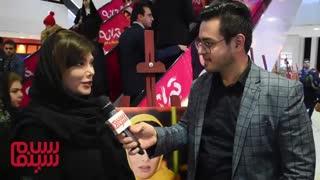 نگار فروزنده در افتتاحیه «رقص روی شیشه»: بعد از چهار سال، دوباره سلام سینما