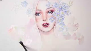آموزش نقاشی آبرنگ چهره