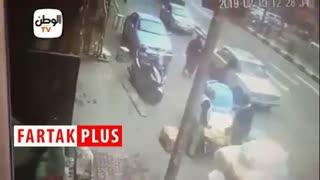 لحظه دستگیری و انفجار عامل انتحاری در مصر