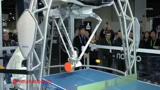 رباتی که با شما پینگ پونگ بازی می کند