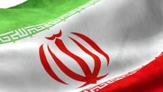 پرچم ایران در حال احتزاز