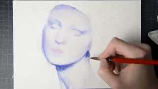نقاشی چهره بسیار زیبا