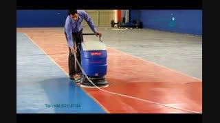 اسکرابر - اسکرابر کابلی برای شستشوی اپوکسی سالن ورزشی