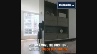 کمد، مبلمان و تخت خواب رباتیک برای خانه های کوچک و دارای فضای کم