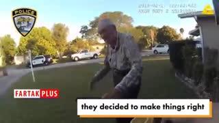 شگفت زده کردن پیرمرد ۸۰ ساله توسط ماموران پلیس