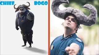 شخصیت های انیمیشن زوتوپیا در دنیای واقعی
