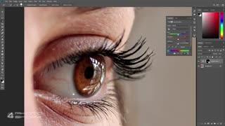 چطور رنگ چشم را در فتوشاپ عوض کنیم آموزش فارسی