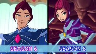 مقایسه قیافه ی پسرهای وینکس از فصل 1 تا فصل 8