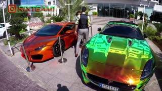 لامبورگینی و جگوار اف تایپ  از لوکس ترین اتوموبیلهای ایران در برنامه ریکس