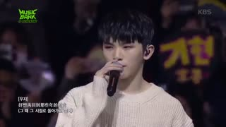 "کاور آهنگ چینی ""Those bygone years"" گروه Seventeen (vocal unit ft chinese line) در music bank Hong kong"