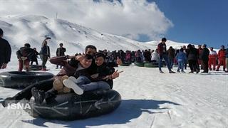 هیجان در پیست اسکی شمال غرب کشور