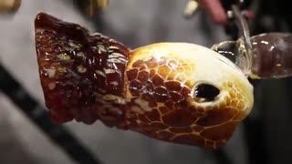 ساخت لاک پشت شیشه ای زیبا توسط ریون اسکایریور