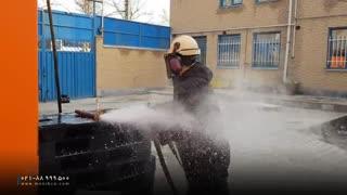 شستن لوله و رفع گرفتگی با واترجت صنعتی