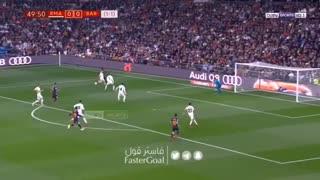 گل اول بارسلونا به رئال مادرید توسط لوییز سوارز