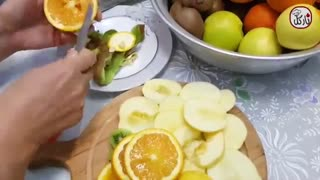طرز تهیه میوه خشک٬ چیپس سالم با نارگل - Mive khosh, chipe mive - Healthy Snack, dried fruit chips