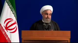 روحانی (۹۵): در سال ۹۱ با گران شدن قیمت ارز به دوران قاجار برگشتیم/ یکی از موفقیت های دولت بازگشت ثبات به بازار است