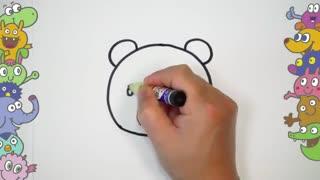 آموزش نقاشی کودکان - نقاشی مرحله به مرحله خرس