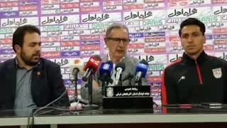 صحبتهای جرج لیکنز در نشست خبری پس از پیروزی تراکتورسازی مقابل سپاهان