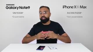 مقایسه گلکسی نوت 9 با آیفون XS Max : اوج رقابت اپل و سامسونگ