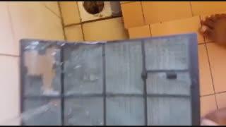 مسدود شدن فیلتر کولر گازی با گردوغبار