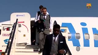 سفر بازیکنان بارسلونا به مادرید برای دیدار ال کلاسیکو