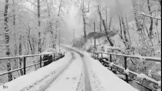 طبیعت زیبای سوادکوه در زمستان برفی