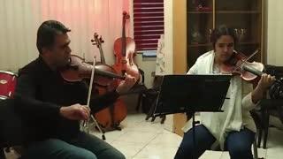 اجرای هنرجوی ویولن در آموزشگاه موسیقی آوای سپهر
