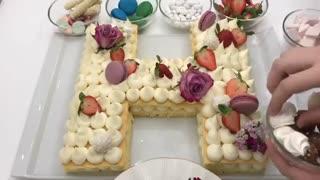 فیلم آموزش کیک سابله حرف H