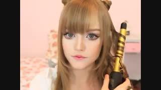 Rare video !!Kotakoti Cat Ears Hairstyle   リボン猫耳ヘアスタイル  =①ω①=