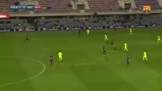 ویدیو : فول مچ بازی بارسلونا بی 3-0 انتونینت ;  پیروزی حساس با هتریک میراندا در گل و پاس گل !