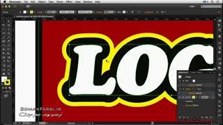 آموزش نرم افزار ایلوستریتور  طراحی لوگو با استفاده از Adobe Illustrator به زبان فارسی