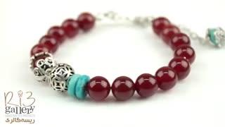 دستبند فیروزه | دستبند زنانه ساخته شده از سنگ فیروزه اصل نیشابور